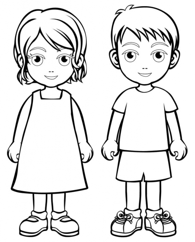 824x1024 Boy Girl Coloring Page Boys And Girls Wear Colouring Pages New