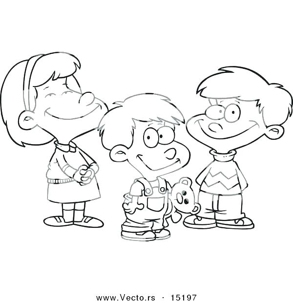 600x620 Boy Girl Coloring Pages Printable And Download Colouring Outline