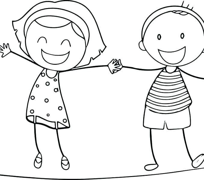 678x600 Coloring Pages Boy And Girl Free Coloring Pages Boy And Girl