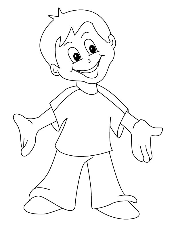 612x792 Happy Girl Coloring Pages Download And Print For Free