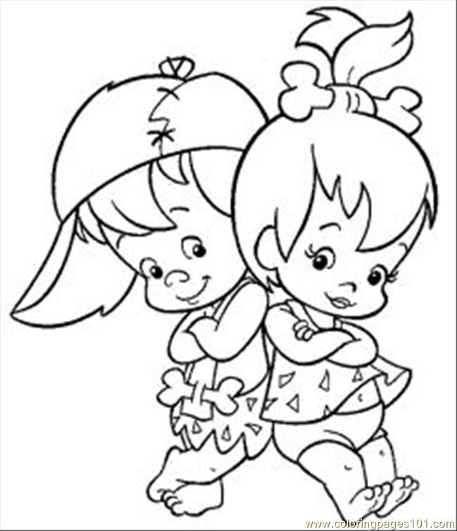 650x755 Flintstones Coloring Pages Free Printable Kids Art Pictures Girl