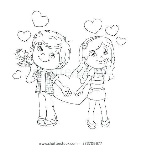 450x470 Boy And Girl Coloring Pages Boy And Girl Coloring Pages Boy Girl