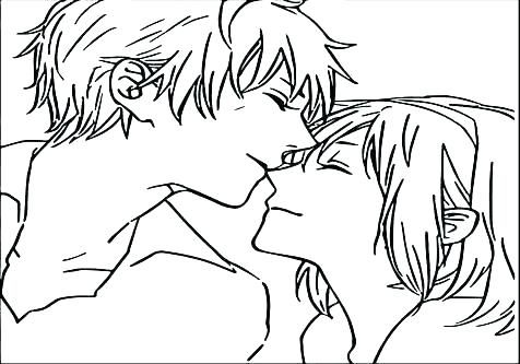 476x333 Boy And Girl Coloring Pages Boy Girl Colouring Pages
