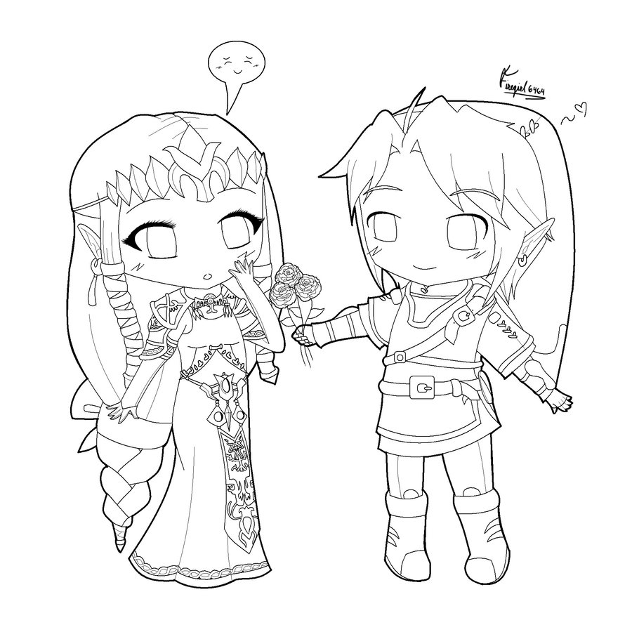900x900 Chibi Boy And Girl Holding Hands Template