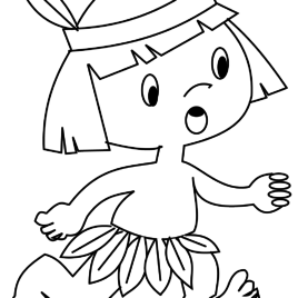 268x268 Coloring Page Of Indian Boy Best Girl Holding Hands Thanksgiving
