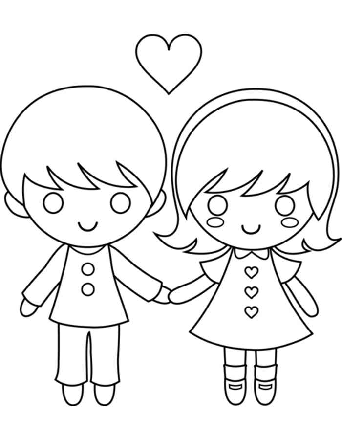 700x900 Girl And Boy Coloring Pages To Download And Print For Free