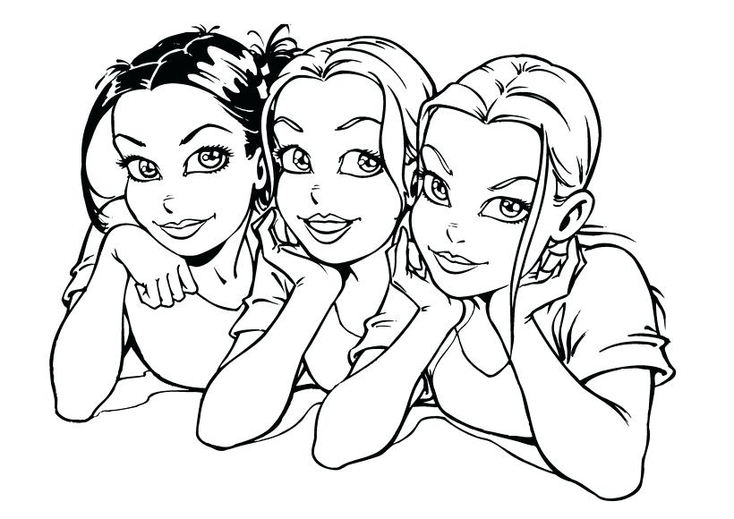 820x580 Girls Coloring Page Outline Of A Boy And Girl Coloring Pages