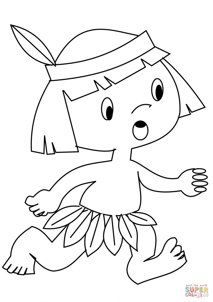 724x1024 Indian Boy Coloring Pages Free To Print Page Printable Kids Sheet