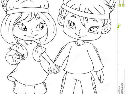 440x330 Indian Girl Coloring Page, Indian Girl Coloring Pages Coloring