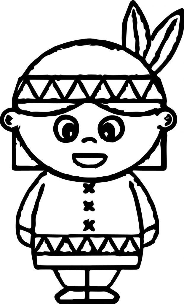 621x1024 American Indian Cartoon Boy And Girl Coloring Page Free Printable