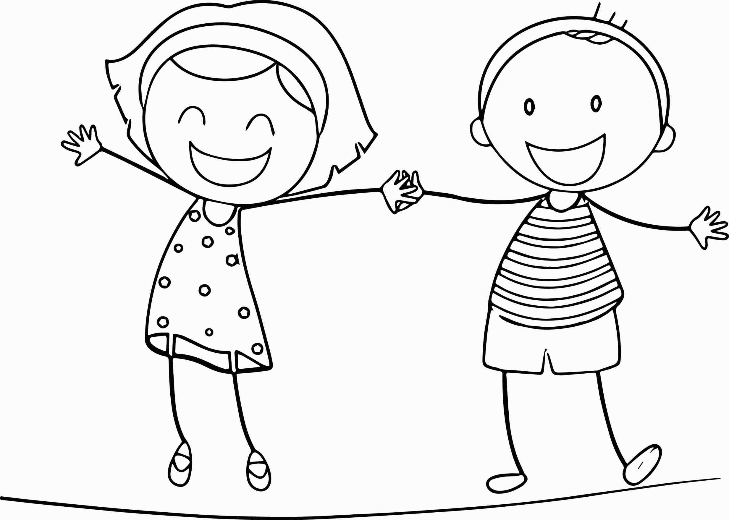 2465x1759 Boy And Girl Holding Hands Coloring Page Web Coloring Pages
