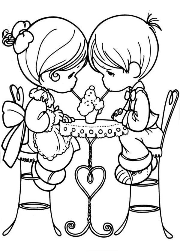 Boy And Girl Love Coloring Pages