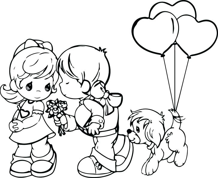 728x595 Coloring Pages Boy And Girl Medium Size Of Coloring Pages For Kids