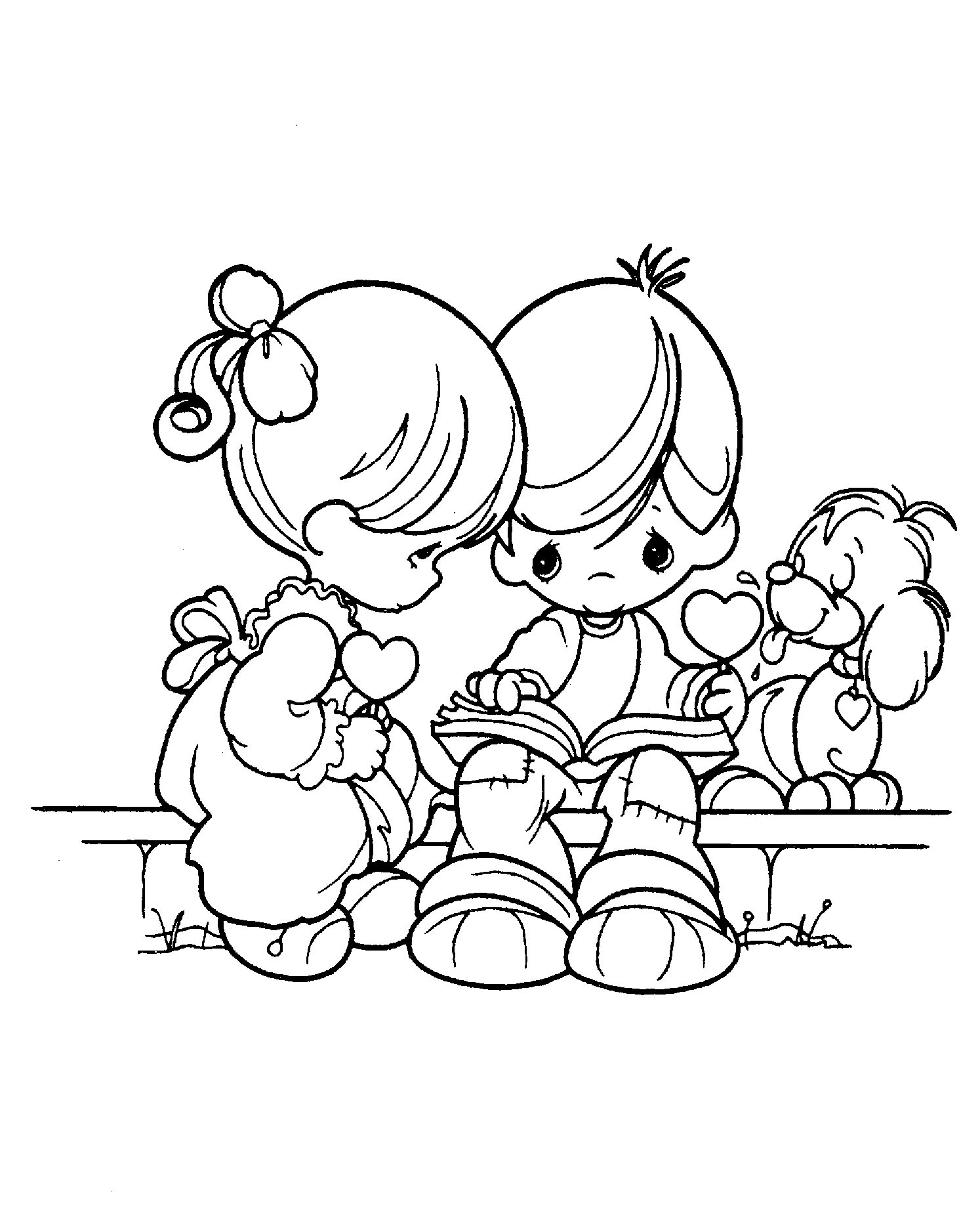 1494x1860 Precious Moments Always With The Little Dog Coloring Pages