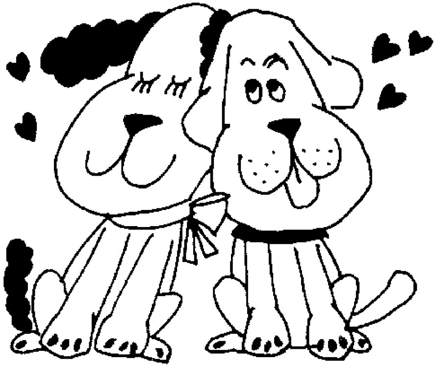 887x750 Printable Coloring Pages Puppy Love Coloring Pages
