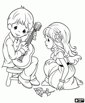 280x337 Coloring Book Precious Moments Coloring Picture Redwork