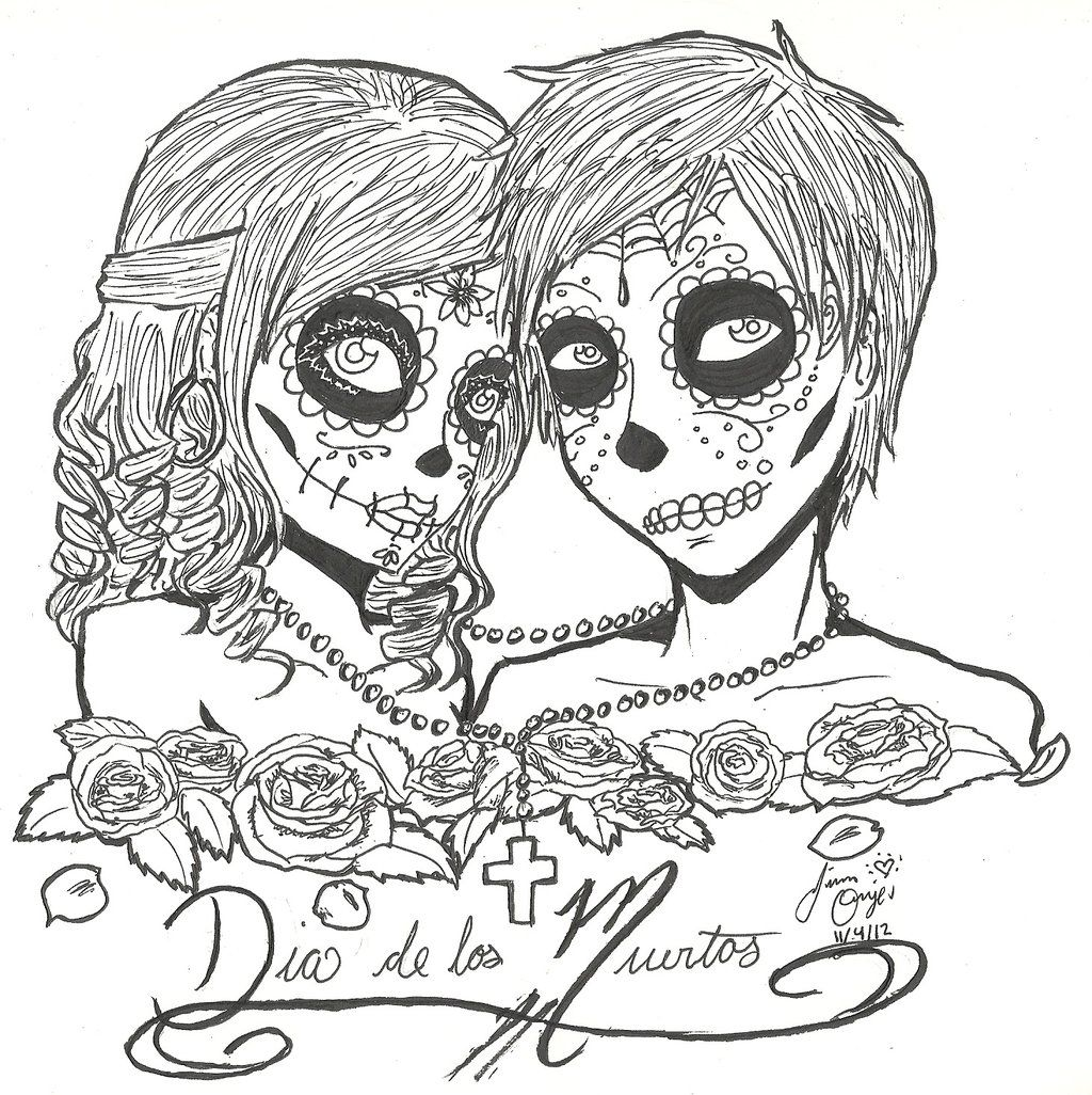 1024x1026 Day Of The Dead Skull Illustration