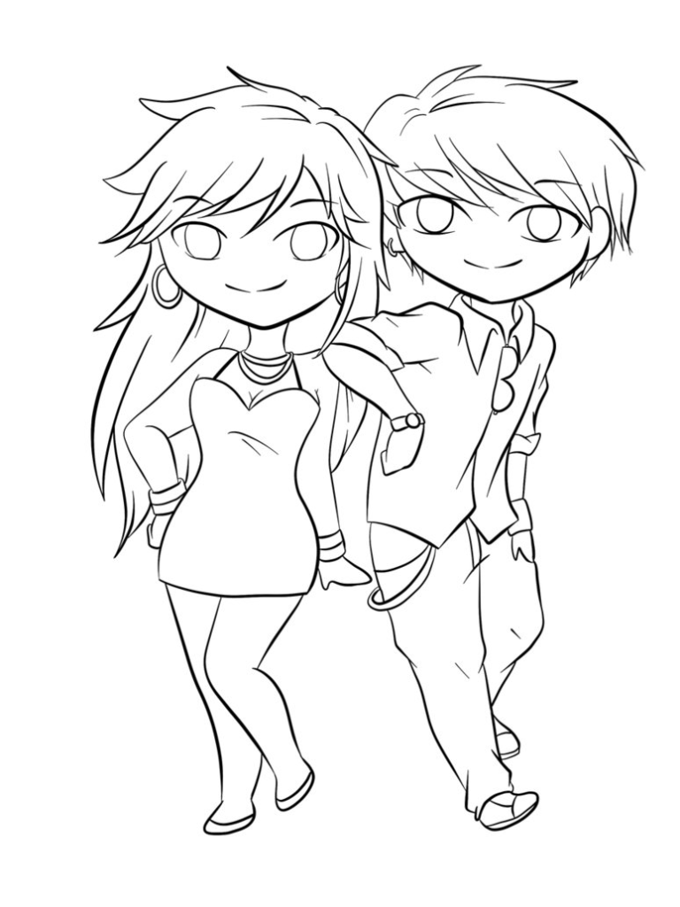 768x1024 Boy And Girl Love Coloring Pages Fun Coloring Pages