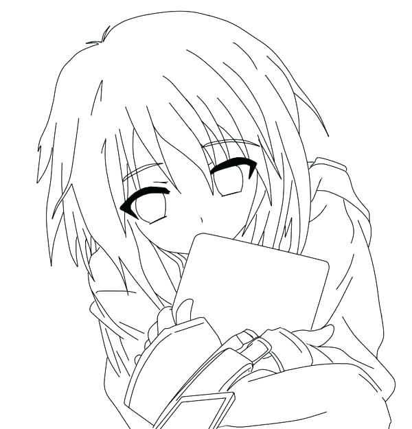 600x625 Cartoon Girl Coloring Pages Anime Cute Girl Colouring Pages Boy