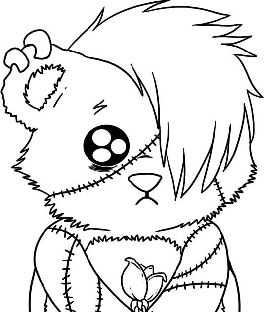 534x630 Chic Inspiration Emo Coloring Pages To Print Girl Anime Boy Love
