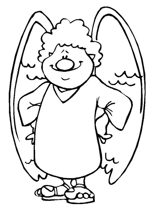 Boy Angel Coloring Pages
