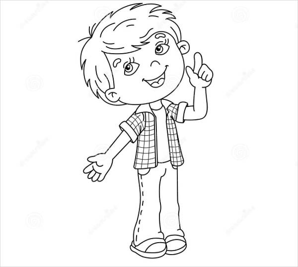 Boy Cartoon Coloring Pages