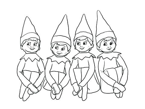 480x362 Elf On The Shelf Color Pages Elf On The Shelf Coloring Page Boy
