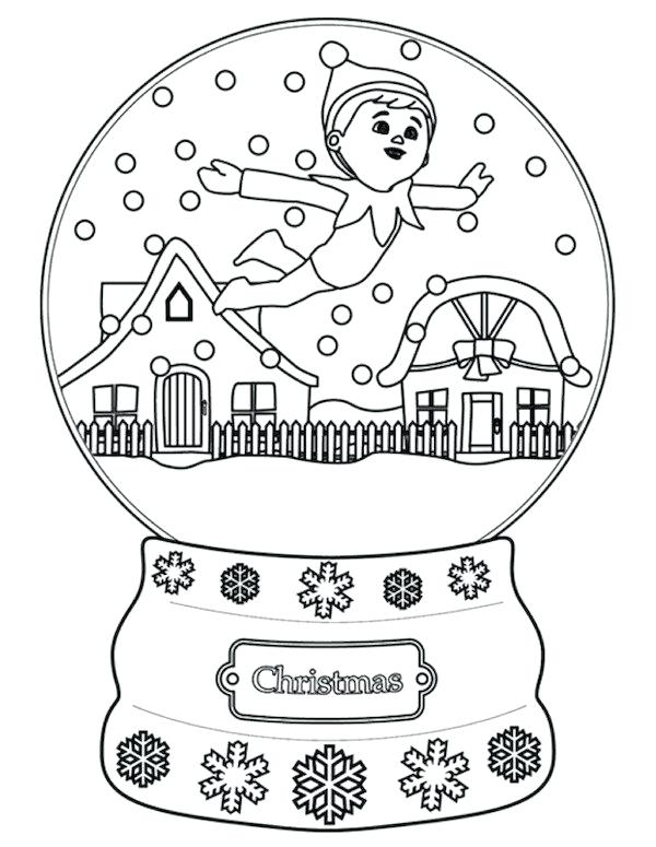 600x775 Elf On The Shelf Coloring Pages