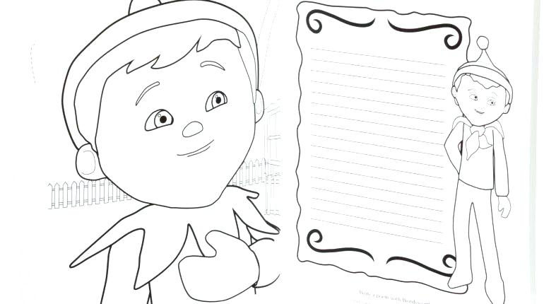 770x430 Elf On The Shelf Coloring Pages Also Elf On The Shelf Coloring