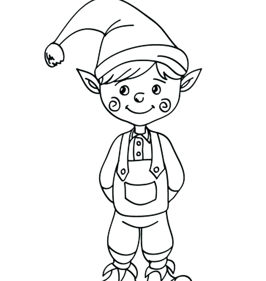 852x900 Elf On The Shelf Coloring Pages Elves Coloring Pages Elves