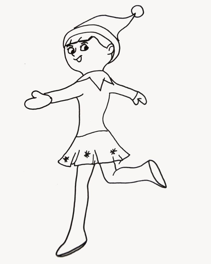 736x920 Elf On The Shelf Coloring Pages Inspiring Crafts
