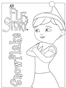227x300 Elf On The Shelf Coloring Page For Elfie And The Kids To Colour