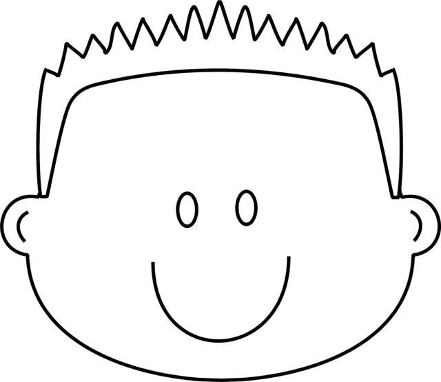 640x555 Boy Face Coloring Page Color Bros