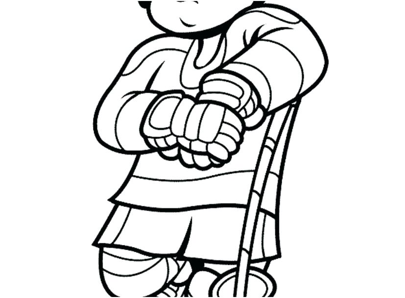 827x609 Coloring Page Boy Hockey Coloring Pages Boy Player Coloring Page