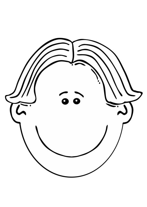 620x875 Coloring Page Boy's Face