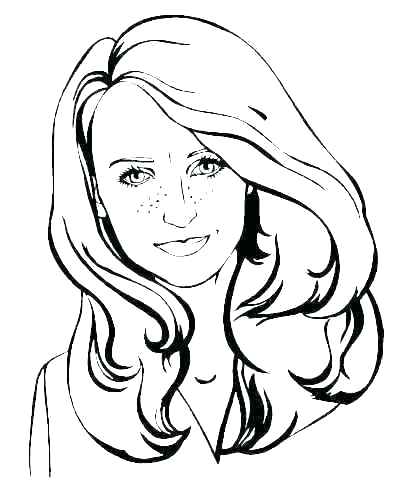 411x497 Face Coloring Page Girl Face Coloring Page Smiley Face Coloring