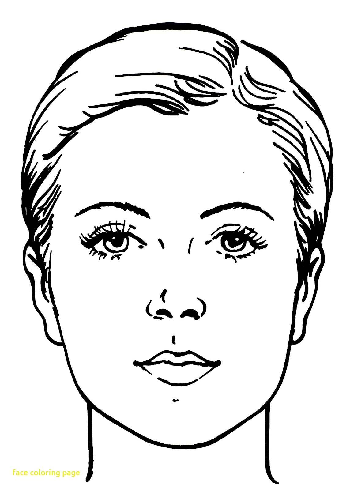 1143x1600 Face Coloring Page With For Kid Face Coloring Page In For Kids