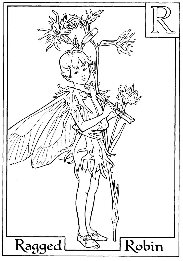 Boy Fairies Coloring Pages