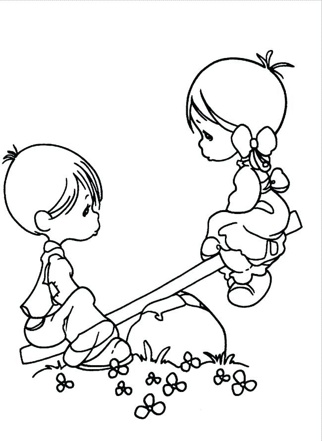 Boy Girl Coloring Pages