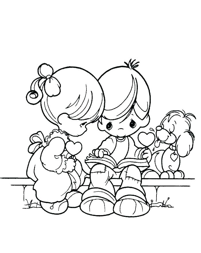 700x882 Boy And Girl Coloring Pages With Boy And Girl Coloring Page Boy