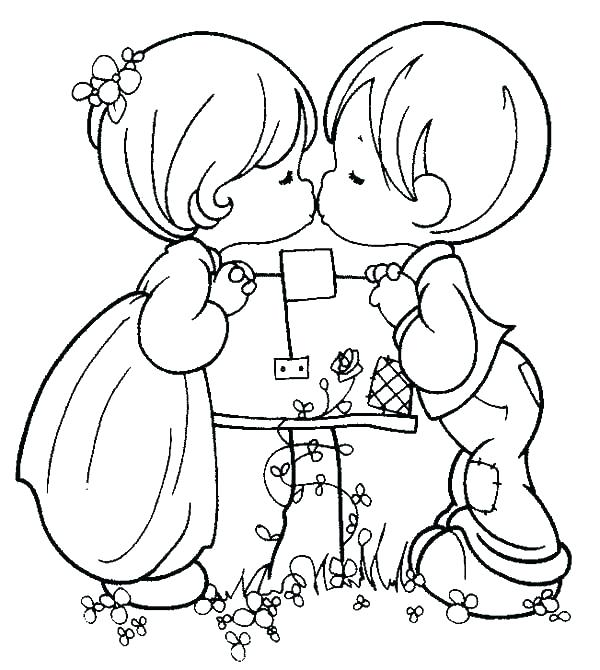 600x670 Boy Girl Coloring Pages Printable Coloring Coloring Page Boy
