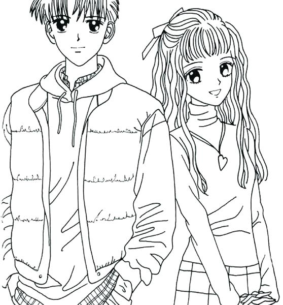 558x600 Boy And Girl Coloring Page Cool Boy And Girl Coloring Pages Online