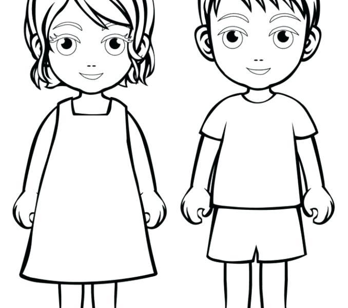 678x600 Boy And Girl Coloring Page Usedauto Club