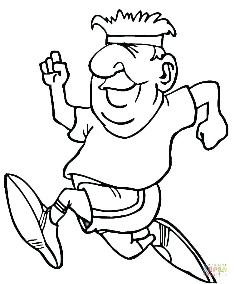 750x907 Running Coloring Page Click The Running Coloring Pages Boy Running