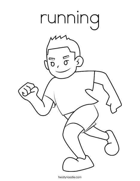 468x605 Running Coloring Pages Boy Running Coloring Page Sports Shoes