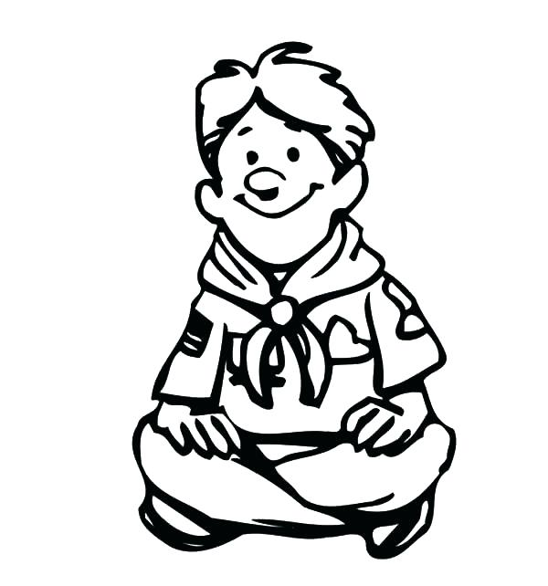 600x642 Boy Scout Coloring Pages Printable Coloring Pages For Boyfriends