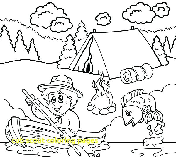 600x537 Cub Scout Coloring Pages Boy Scout Coloring Pages Everything Is