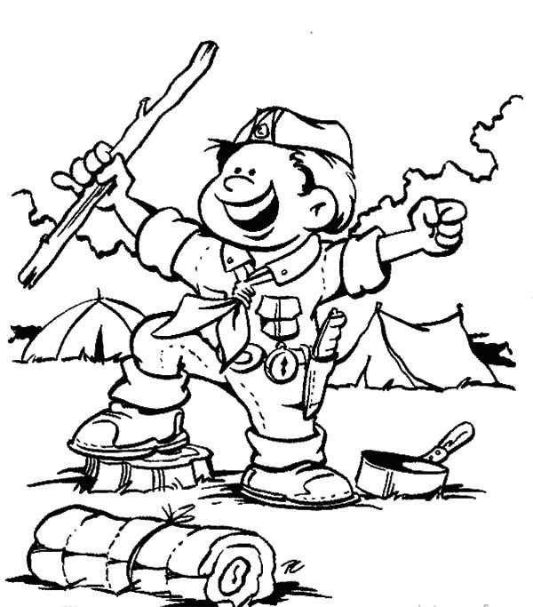 600x683 Boy Scout Coloring Pages