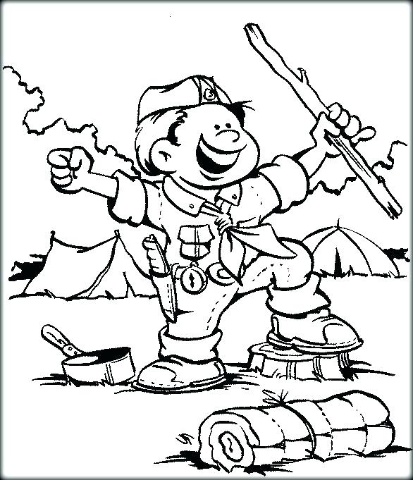 586x681 Cub Scout Coloring Pages Boy Scout Coloring Pages Free Printable