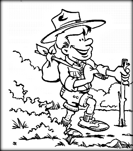 437x498 Free Printable Boy Scout Coloring Pages